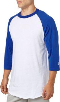 adidas Adult Triple Stripe ¾ Sleeve Baseball