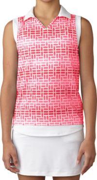 adidas Girls' Printed Sleeveless Golf Polo