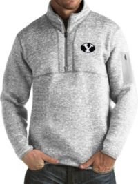 Antigua hommes BYU Cougars gris fortune Pullover