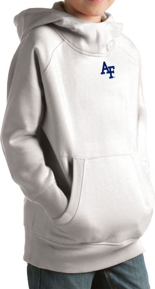 75dd8de0bf Antigua Youth Air Force Falcons White Victory Pullover Hoodie ...