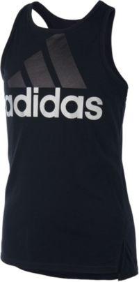 adidas Girls' Shaped Hem Tank Top