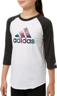 adidas Girls' Destiny ¾ Sleeve Softball Graphic