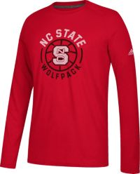 adidas Men's NC State Wolfpack Red Center