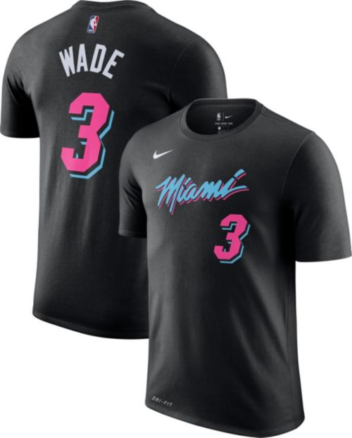 new style 77bed 79531 Nike Men s Miami Heat Dwyane Wade Dri-FIT City Edition T-Shirt