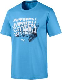 PUMA Hommes Manchester City Graphic Blue