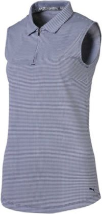 POLO de golf sans manches PUMA Dames Checker