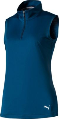 PUMA Women's 1/4-Zip Mock Sleeveless Golf