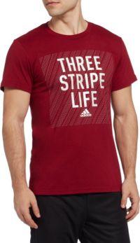 adidas Men's Three Stripe Life Graphic T-