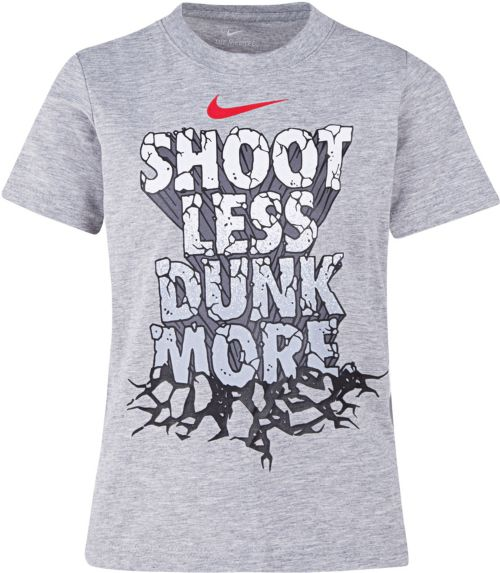 6040c07509f Nike Little Boys  Shoot Less Dunk More Graphic Basketball T-Shirt.  18.00.  Color