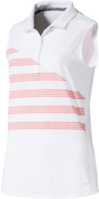 POLO de golf sans manches PUMA Step Stripe