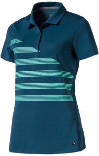 POLO de golf PUMA Step Stripe Femmes