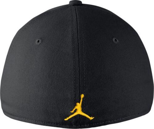 6f32fcdda4575f Jordan Men s Michigan Wolverines Blue Dri-FIT Wool Swoosh Flex Hat ...