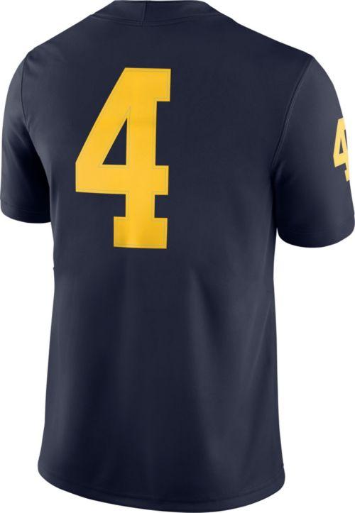 Jordan Men s Michigan Wolverines  4 Blue Game Football Jersey.  noImageFound. Previous. 1. 2. 3 d439e127d
