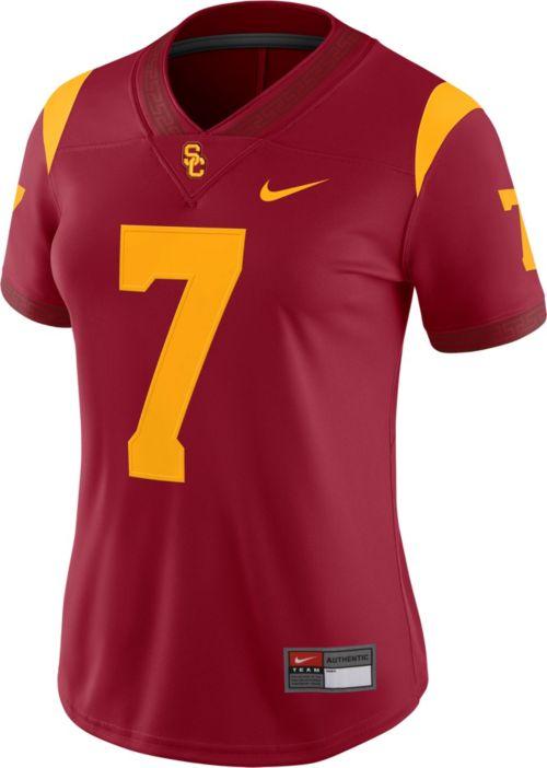 Nike Women s USC Trojans  7 Cardinal Game Football Jersey  5081d5005