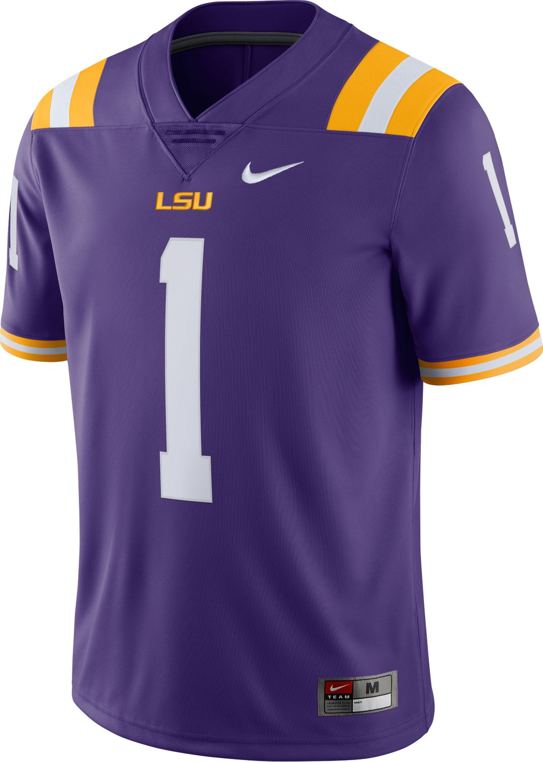 online store f2cb8 ee823 Nike Men's LSU Tigers #1 Purple Limited Football Jersey