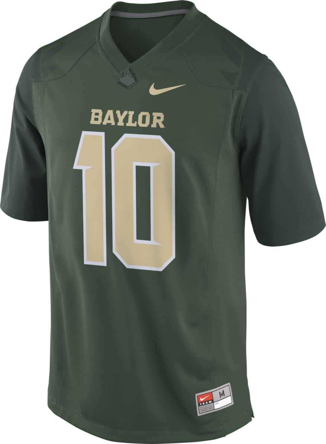 46bce69642d Nike Men's Robert Griffin III Baylor Bears #10 Green Replica College Alumni  Jersey 2
