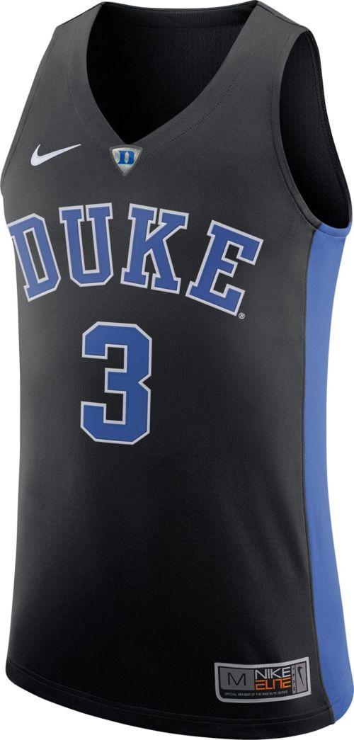 c903b13cdfd Nike Men s Duke Blue Devils  3 Black Authentic ELITE Basketball Jersey