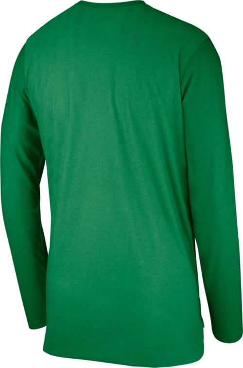 e06bc185df1f Nike Men s Oregon Ducks Green Football Dri-FIT Player Long Sleeve T-Shirt