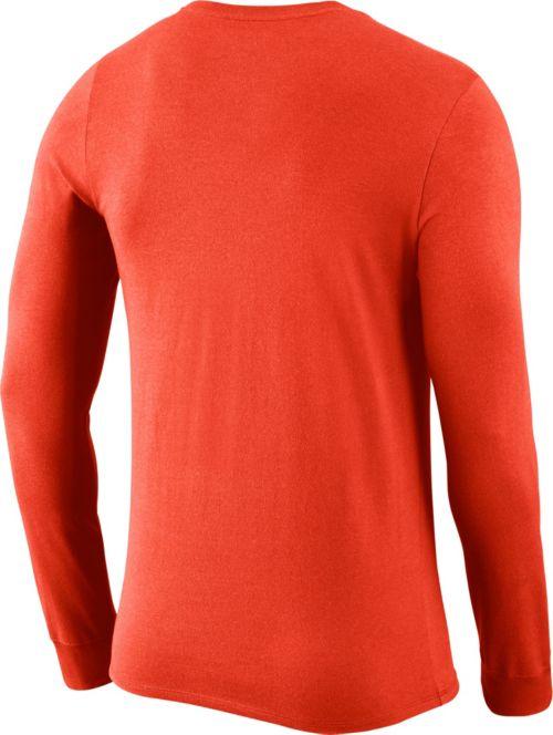 1695ccf3 Nike Men's Virginia Cavaliers Orange Dri-FIT Logo Long Sleeve Shirt.  noImageFound. Previous. 1. 2