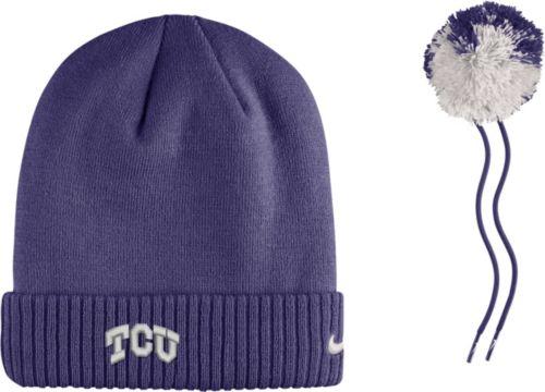 75af6f82764 Nike Men s TCU Horned Frogs Purple Football Sideline Pom Beanie ...