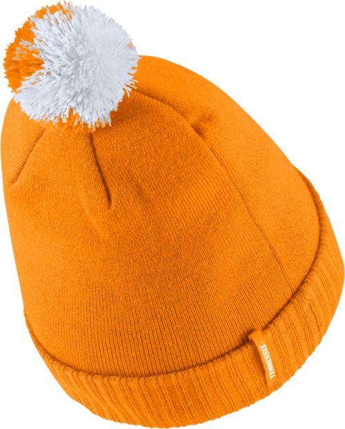best website bd375 4b65a Nike Men s Tennessee Volunteers Tennessee Orange Football Sideline Pom  Beanie