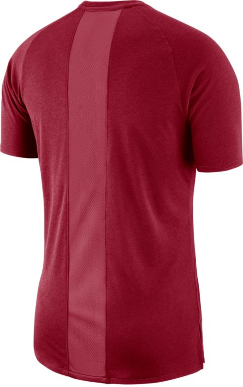 2424c80226a81a Jordan Men s Oklahoma Sooners Crimson Alpha Dri-FIT T-Shirt. noImageFound.  Previous