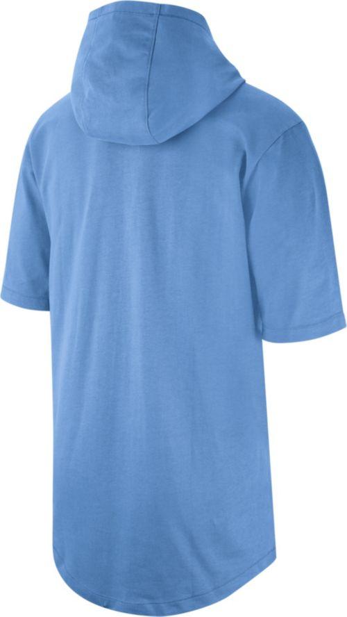 ee51b6bce5de41 Jordan Men s North Carolina Tar Heels Carolina Blue NRG Basketball Short  Sleeve Pullover Hooded Shirt. noImageFound. Previous. 1. 2