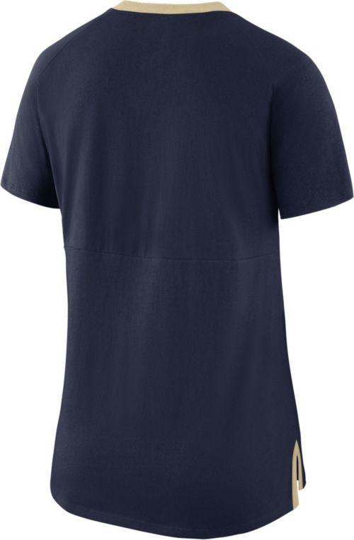 fa69ea24 Nike Women's Pitt Panthers Blue Tri-Blend Basketball Fan T-Shirt ...