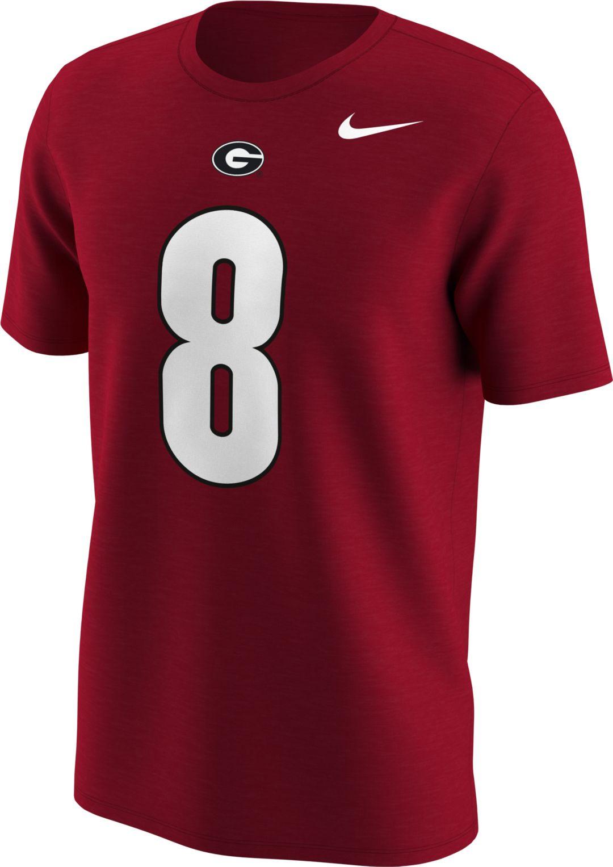 competitive price ba945 980aa Nike Men's Georgia Bulldogs AJ Green #8 Red Football Jersey T-Shirt