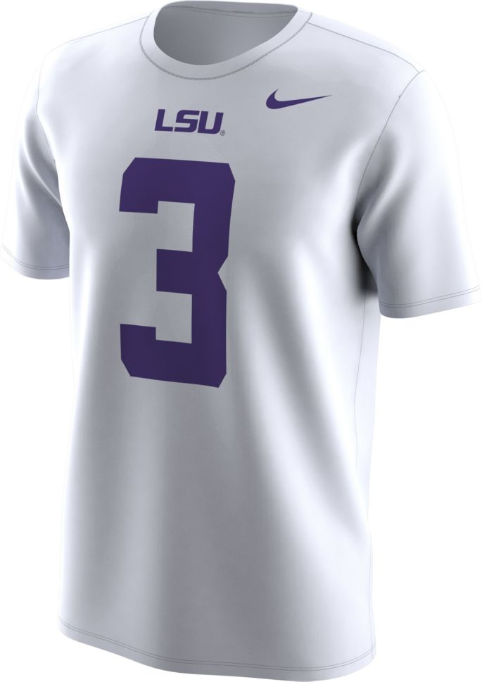 buy popular 6c4f9 cb799 Nike Men's LSU Tigers Odell Beckham Jr. #3 College Alumni White T-Shirt