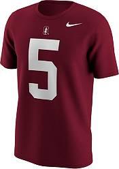 Nike Men's Christian McCaffrey Stanford Cardinals #5 Cardinal College Alumni T-Shirt product image