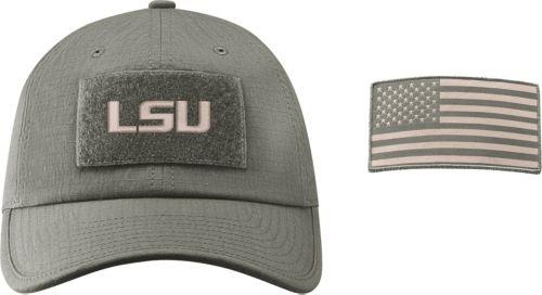 bef113204fa Nike Men s LSU Tigers Grey Heritage86 Tactical Adjustable Hat ...