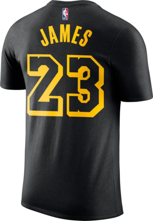 5fa222ed5bbe Nike Men s Los Angeles Lakers LeBron James Dri-FIT City Edition T ...