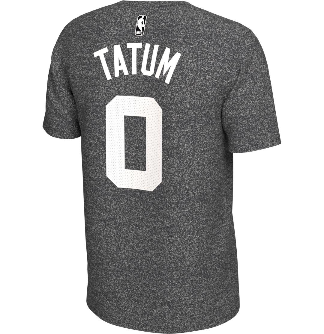 best website 7e4d0 de357 Nike Men's Boston Celtics Jayson Tatum #0 Dri-FIT Grey T-Shirt