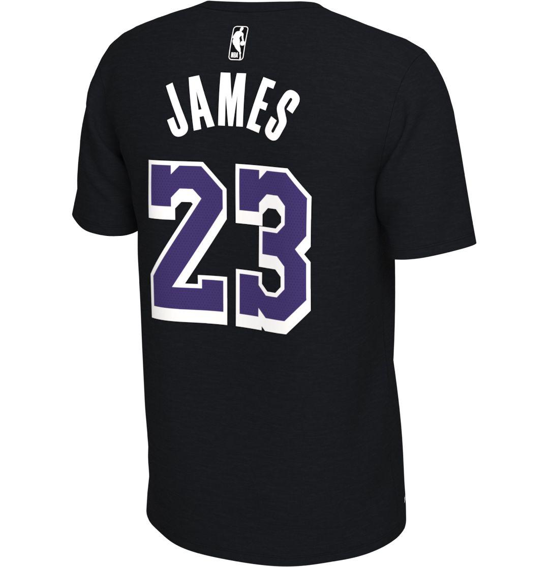 promo code 1f20f 1ea7f Nike Men's Los Angeles Lakers LeBron James #23 Dri-FIT Black T-Shirt
