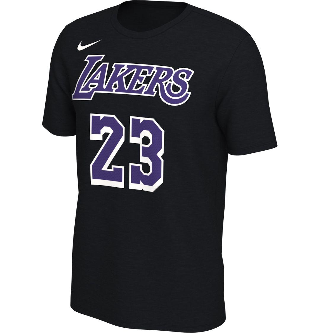 promo code 51d1a 028c7 Nike Men's Los Angeles Lakers LeBron James #23 Dri-FIT Black T-Shirt