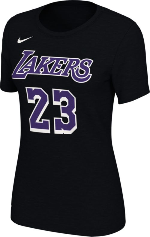 8a6d9725 Nike Women's Los Angeles Lakers LeBron James Dri-FIT Black T-Shirt ...