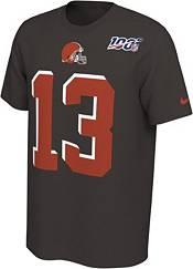 Nike Men's Cleveland Browns Odell Beckham Jr. #13 100th Brown T-Shirt product image