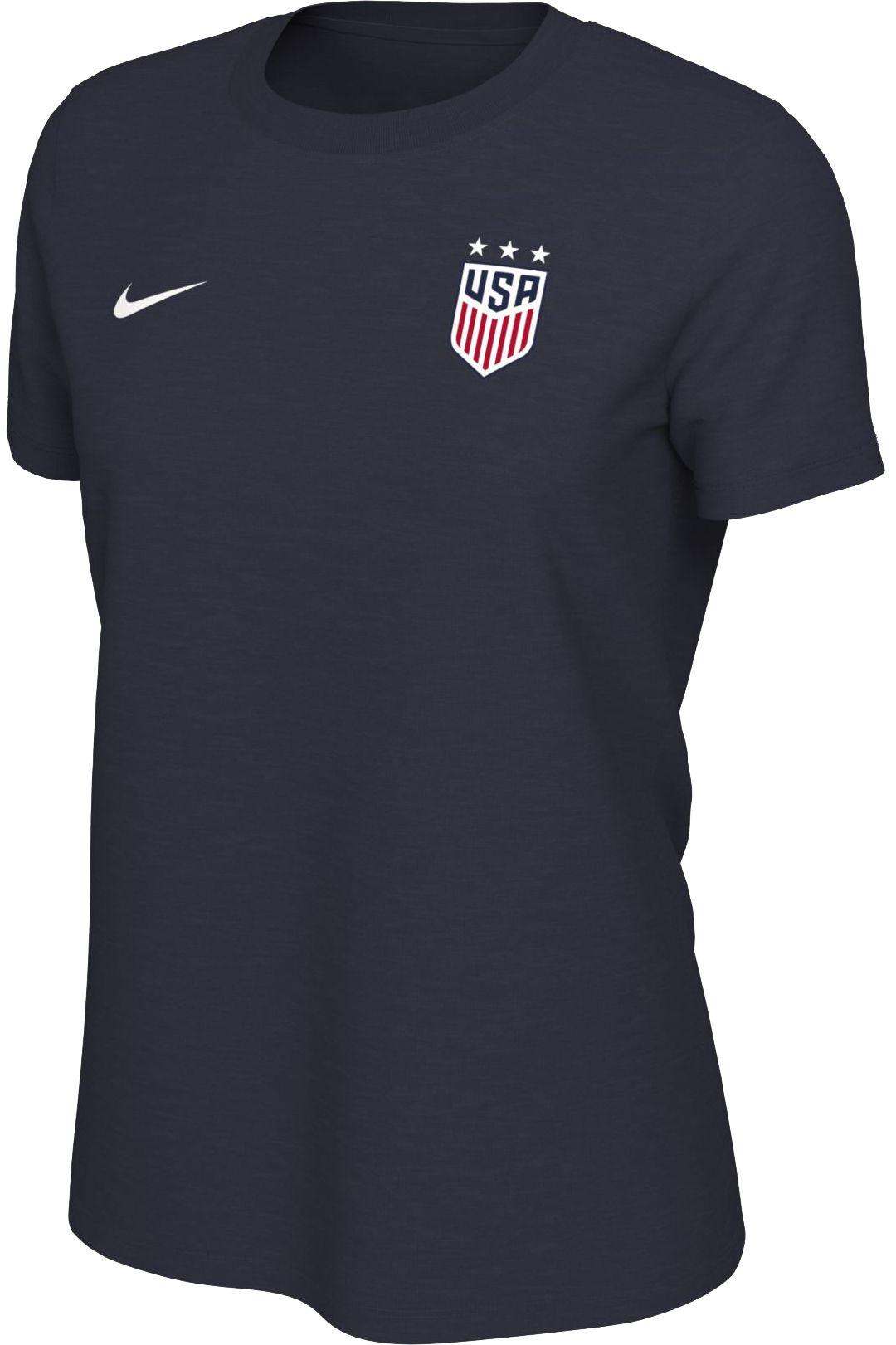 63149e89db881 Nike Women's USA Soccer Alex Morgan #13 Navy Player T-Shirt. noImageFound.  Previous