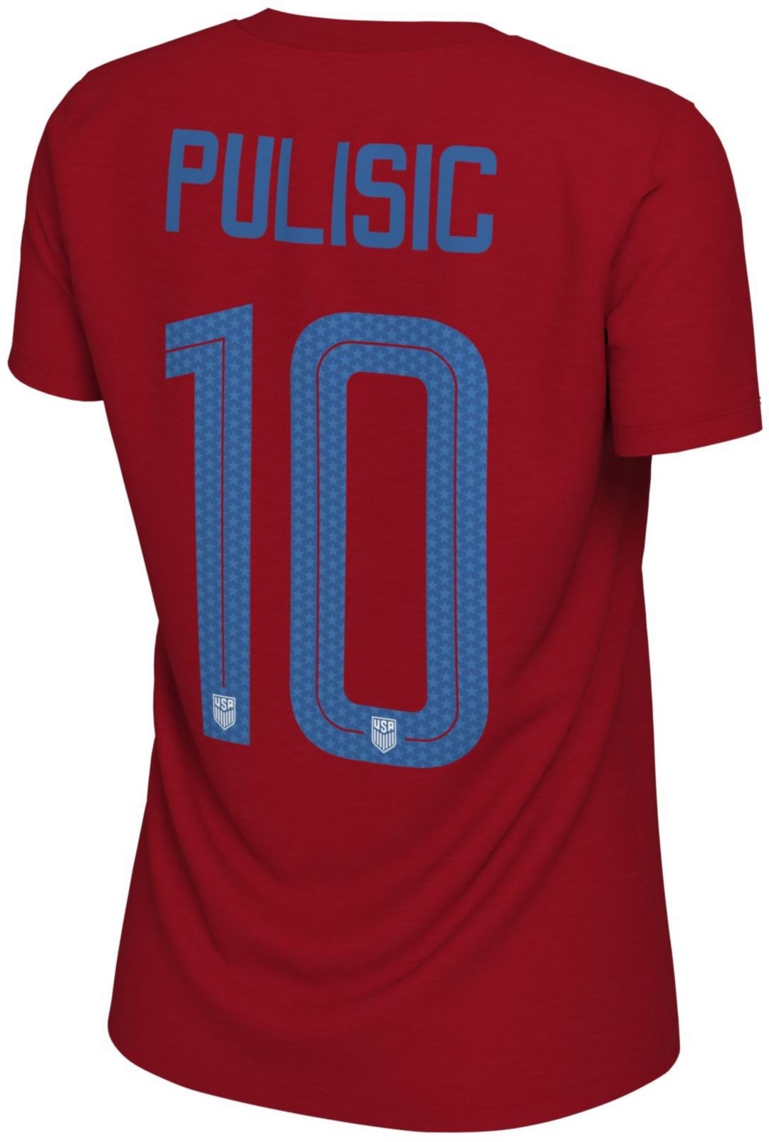 more photos 53a8c 4c755 Nike Women's USA Soccer Christian Pulisic #10 Red Player T-Shirt