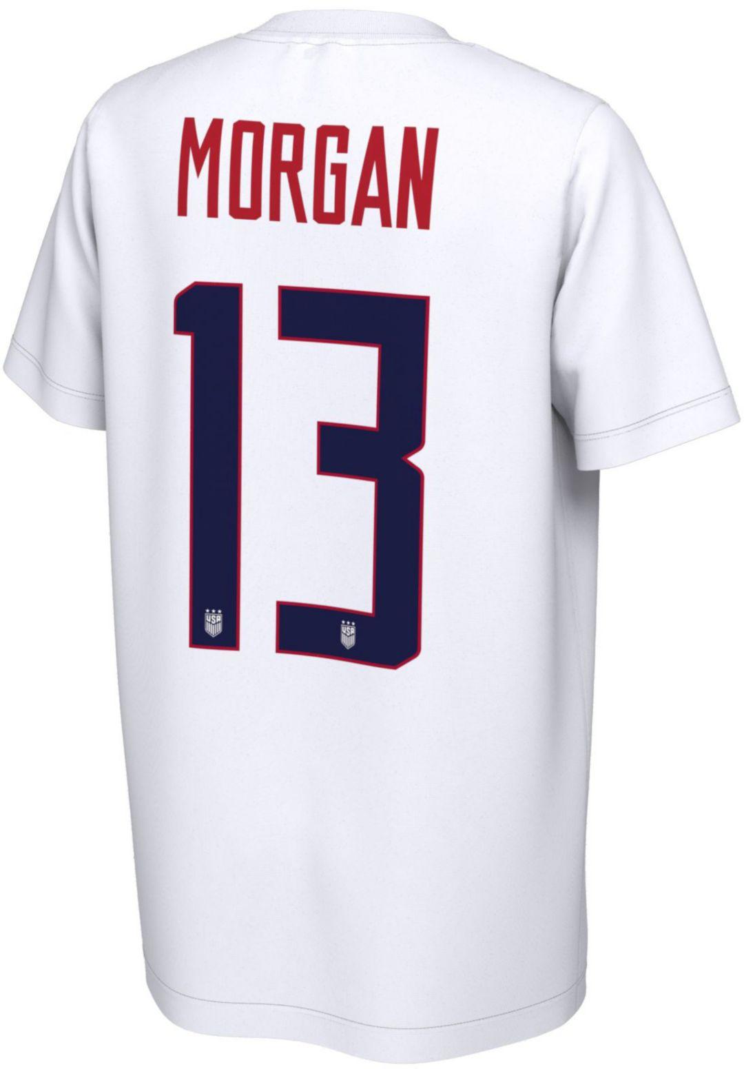 new style e5b66 7c456 Nike Youth USA Soccer Alex Morgan #13 White Player T-Shirt