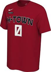 Nike Men's Houston Rockets Russell Westbrook #0 Dri-FIT Red City Edition T-Shirt product image