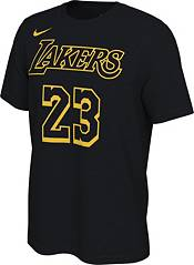 Nike Men's Los Angeles Lakers LeBron James #23 Black Mamba T-Shirt
