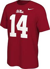 Nike Men's Ole Miss Rebels DK Metcalf #14 Red Football Jersey T-Shirt product image