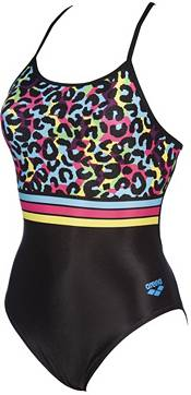 arena Women's Heat Stripes Accelerate Back One Piece Swimsuit product image