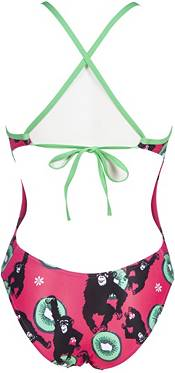 arena Women's Crazy Monkeys Tie Back One Piece Swimsuit product image