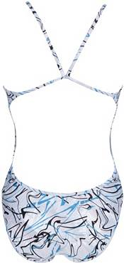 arena Women's Floral Logo Reversible Challenge Back One Piece Swimsuit product image