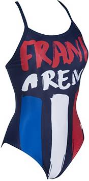 arena Women's Country Flag Light Drop Back One Piece Swimsuit product image