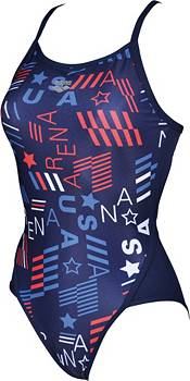arena Women's Blue USA Superfly Back One Piece Swimsuit product image