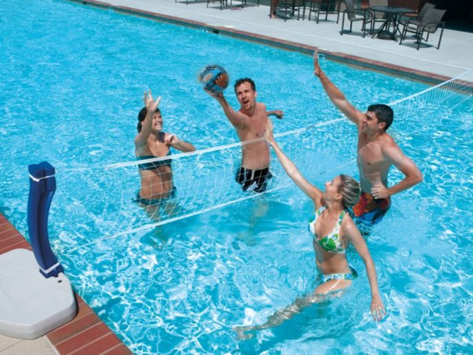 SwimWays 2-in-1 Basketball & Volleyball Swimming Pool Game